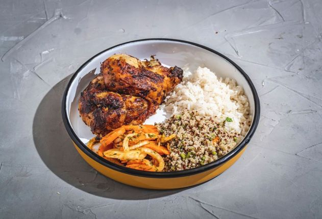 Kuku Rotisserie - Ramat Gan - Kosher - Chicken, Rice & Salad