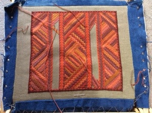 Canvas work cushion — part ? (6/6)