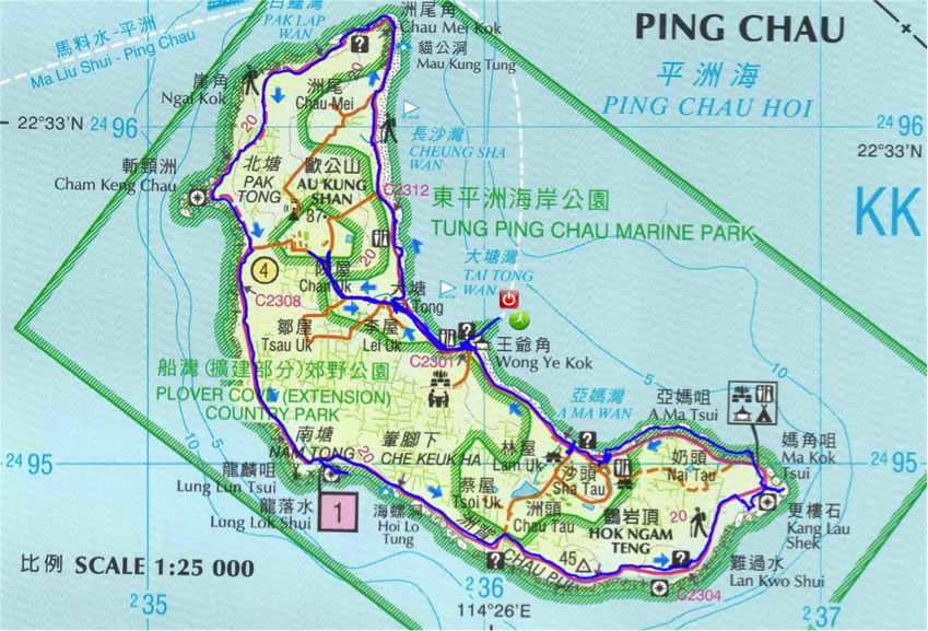 東平洲 map