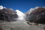在纜車內欣賞一號冰川-大冰瀑布