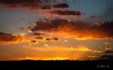 火紅的日落