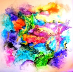 Alcohol Ink Painting