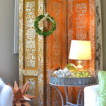 Paint A Rust And Metallic Paint Stenciled Screen Project