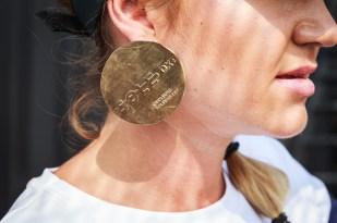 Sarah's improvised Sole earring