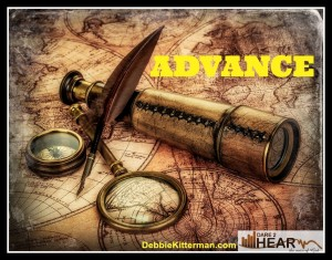 Advance-Oneword vintage map