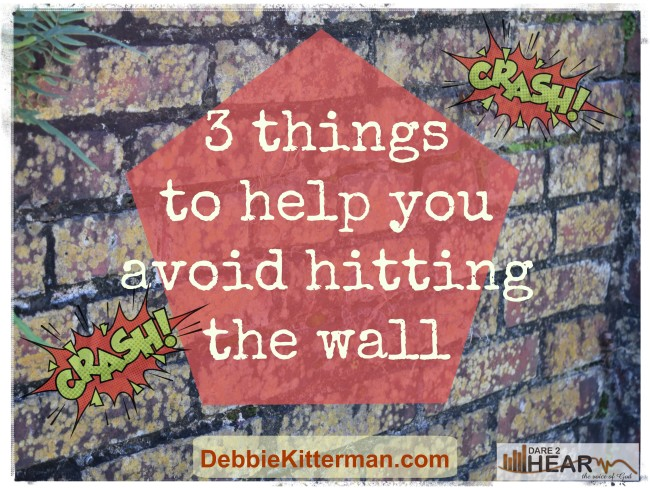 3 Things to Help You Avoid Hitting the Wall