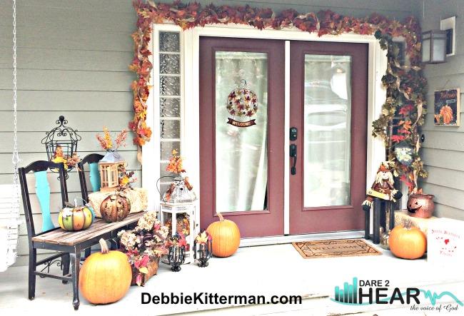 Front Porch Fall Decor 2016