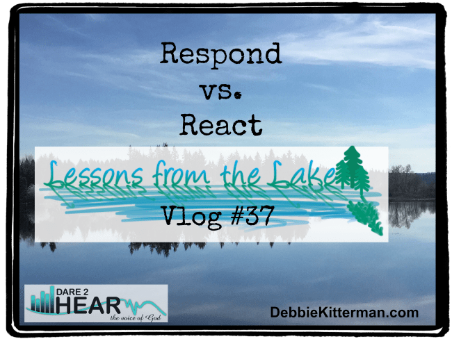 Respond vs. React Vlog #39 Lessons from the Lake
