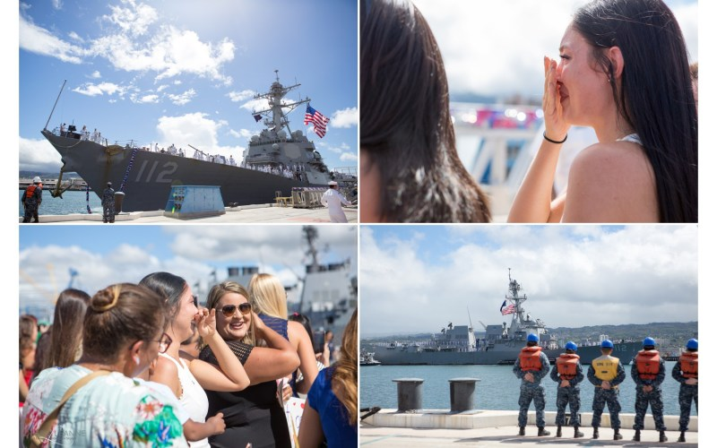 Oahu Family Photographer | Military Homecoming – When your sailor comes home