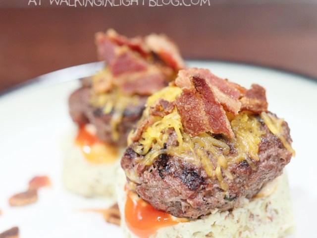 Bison Bacon Cheeseburgers, healthy, recipe