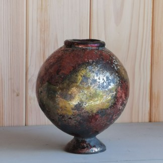 Raku Fired Moon Jars