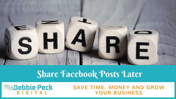 How to Share a Post Later on Facebook