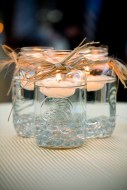 Mason jar floating candle holder