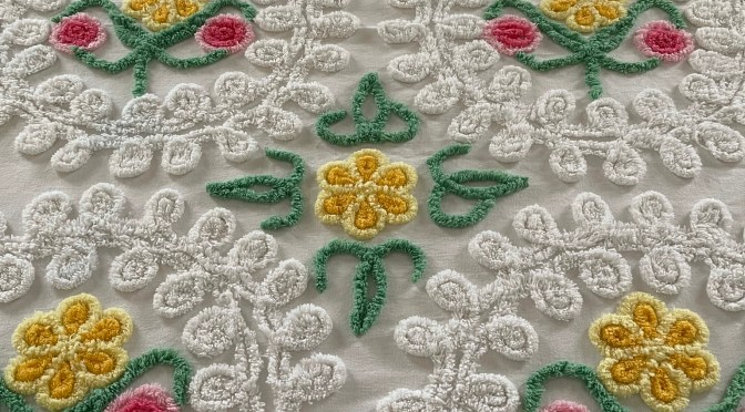 I Inherited an 80-Year-Old Chenille Vintage Bedspread from my Grandmother in the Spirit World