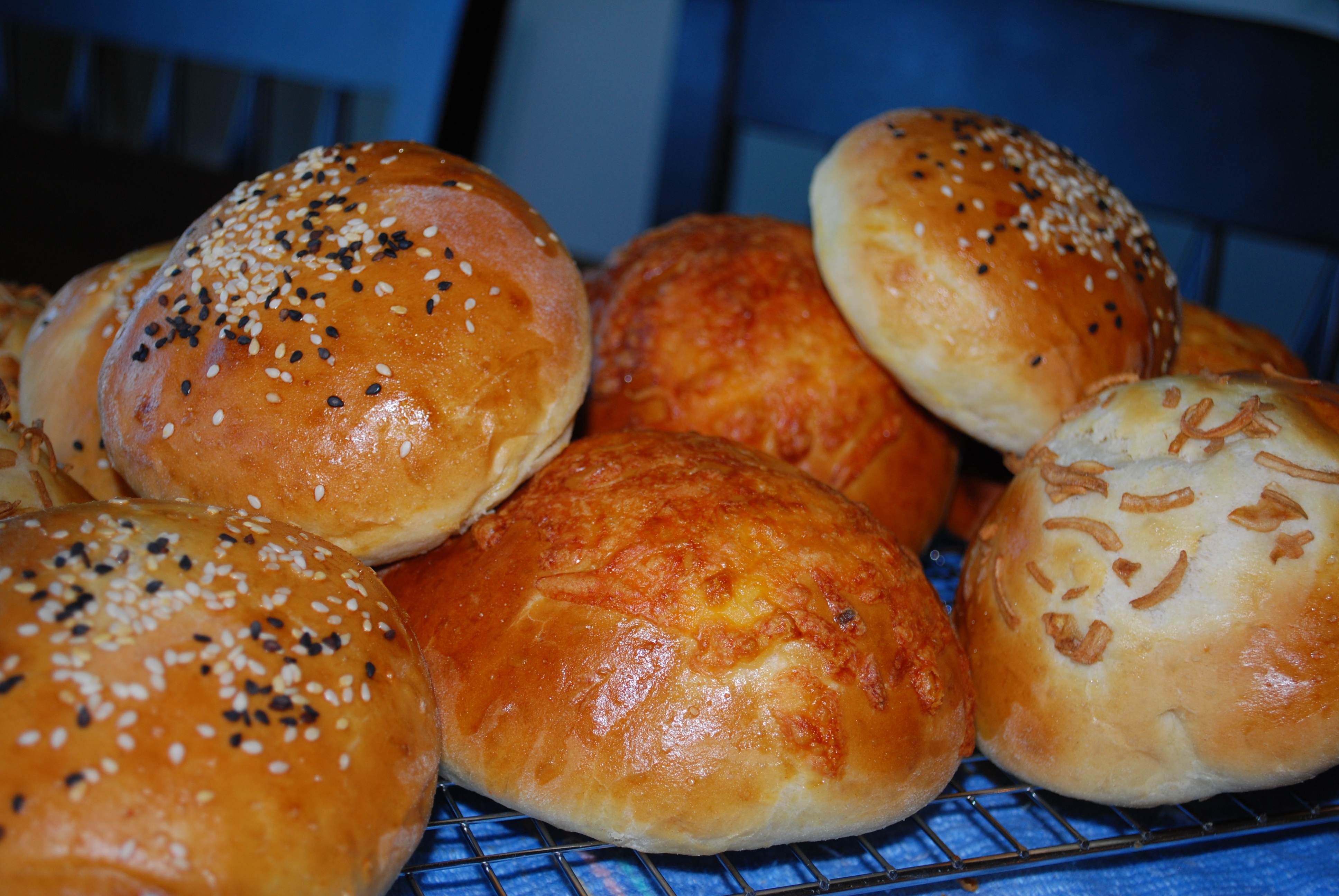 Hamburger buns for the cook-out.