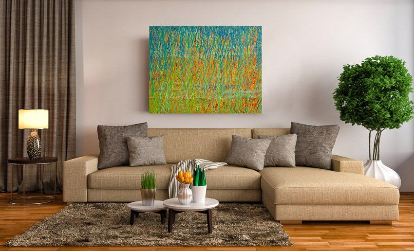 Spring Equinox - Large Abstract Painting by Deb Breton