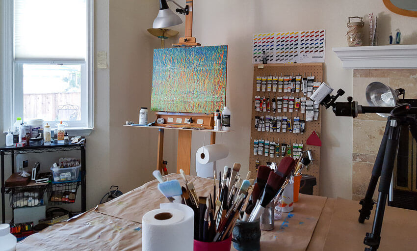 Spring Equinox on the studio easel