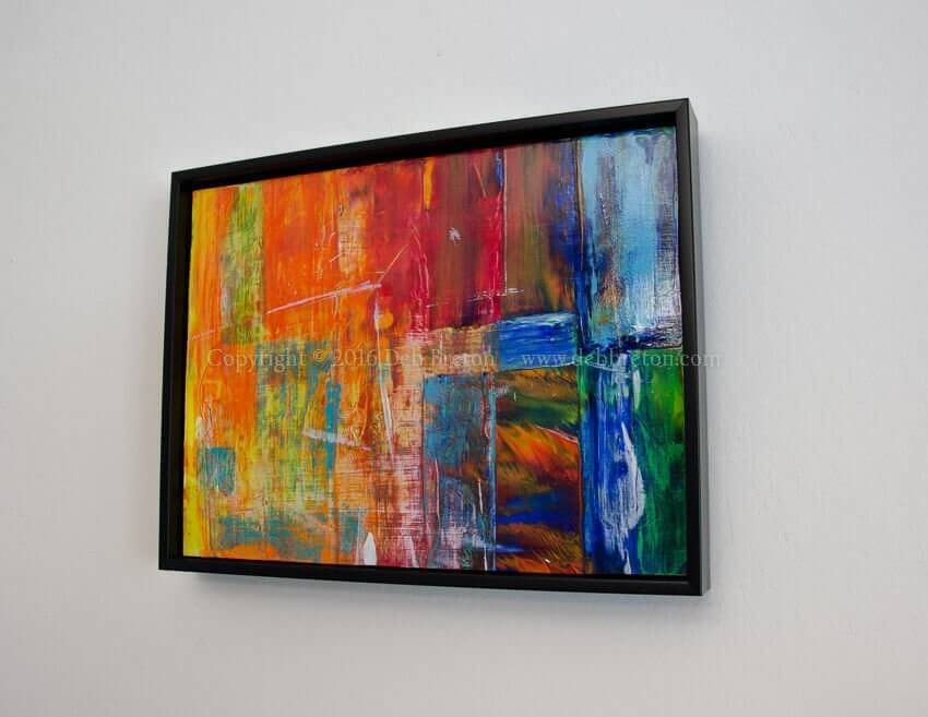 Frenetic Passion - Abstract Expressionism hanging on wall
