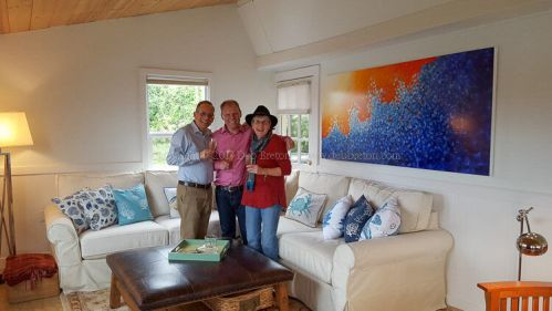 commissioned painting in beach house