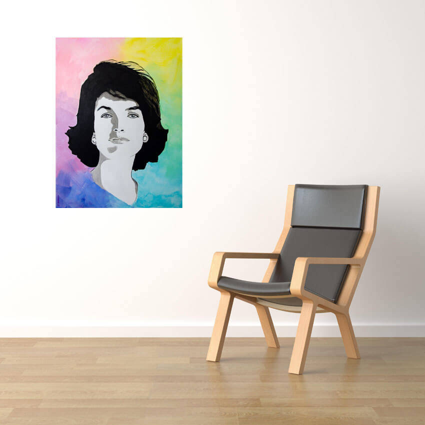 interior design scene wood armchair with leather on a white wall background with copy space