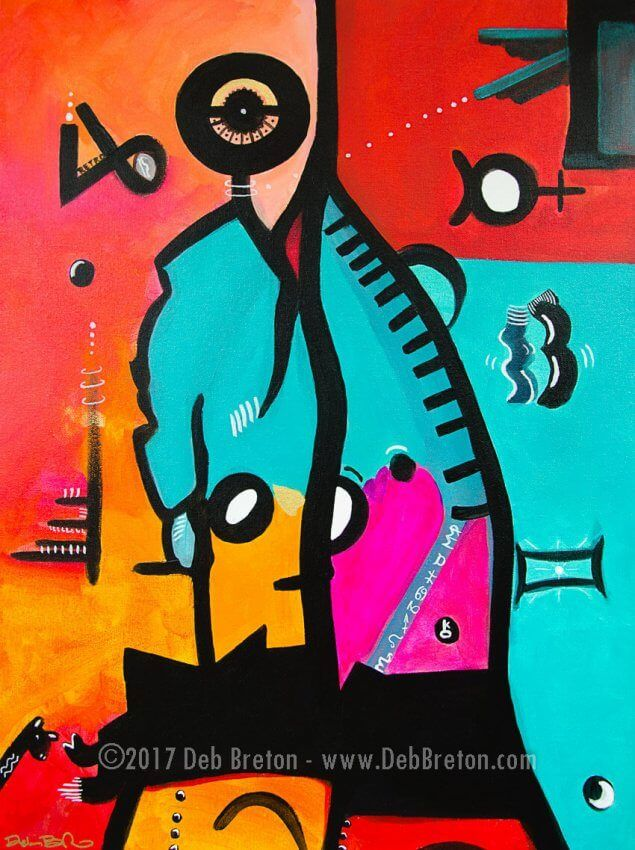 abstract pop art painting