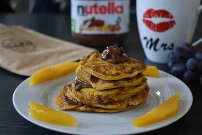 Pompoen pannenkoekjes mey Nutella