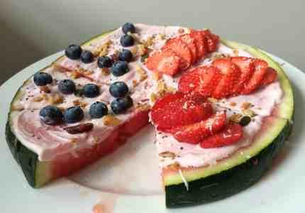 Watermeloen pizza