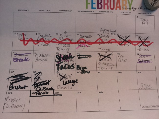My month of meal planning was an epic fail!