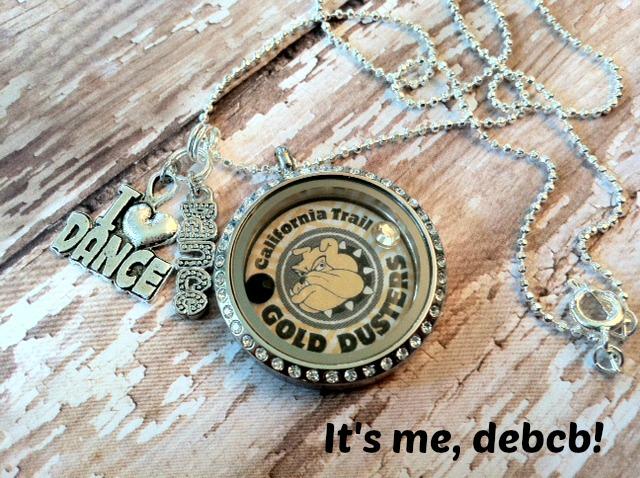 School pride locket giveaway- It's me, debcb!
