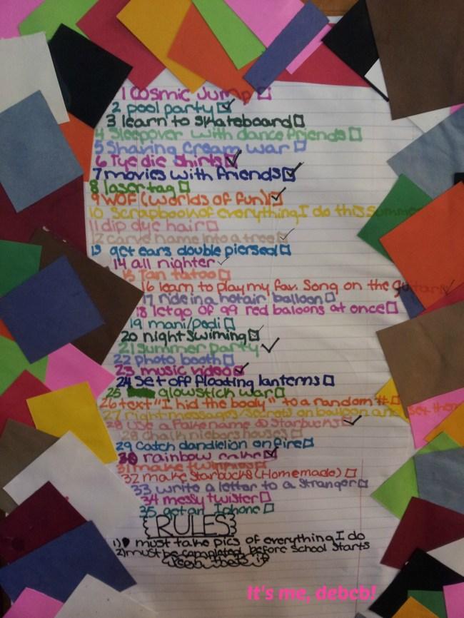 Rosie's Summer Bucket List- It's me, debcb!