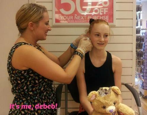 Rosie getting ears double pierced- It's me, debcb!