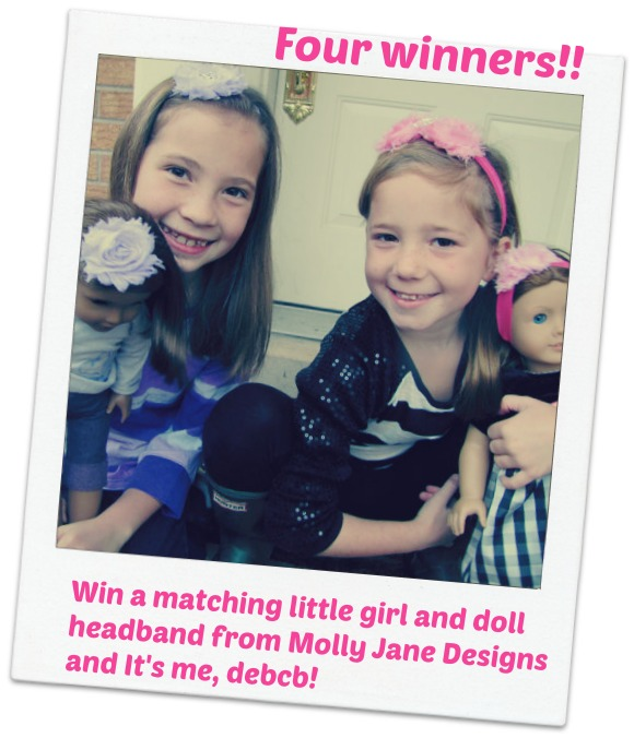 Win a matching little girl and doll headband set- It's me, debcb