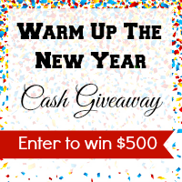 $500 Warm Up the New Year Cash Giveaway- It's me, debcb!