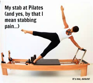 My stab at Pilates- It's me, debcb!