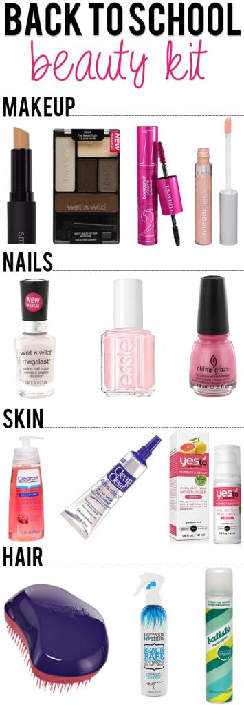 Back to school beauty kit