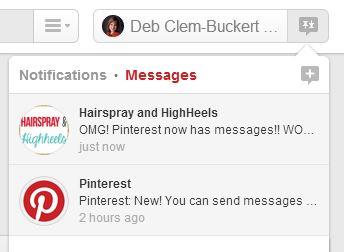 Pinterest Messages- It's me, debcb!