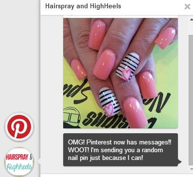 Using Pinterest Messages