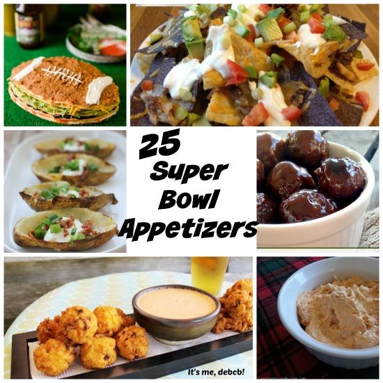 25 Super Bowl Appetizers- It's me, debcb!