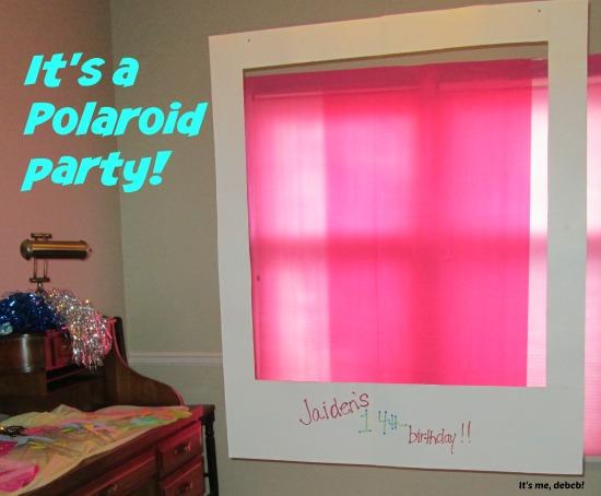 Teen Polaroid Party- It's me, debcb!