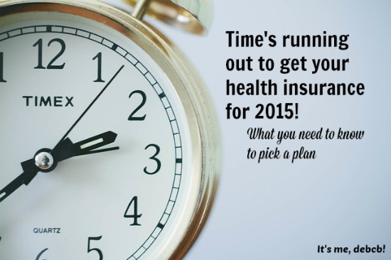Time's running out to get your health insurance- It's me, debcb!