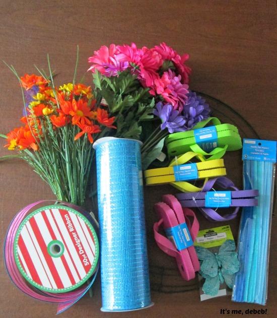Flip Flop Wreath Supplies- It's me, debcb!