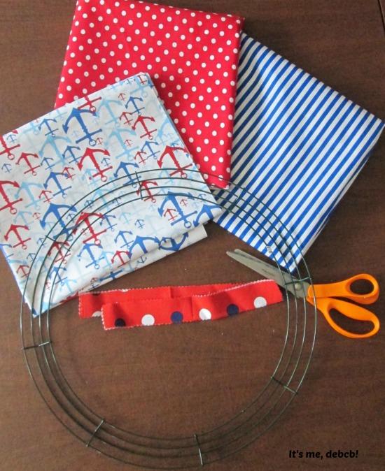 Patriotic Fabric Wreath 1