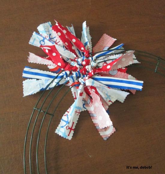 Patriotic Fabric Wreath #5