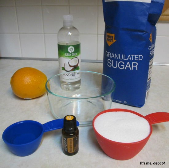 Wild Orange Sugar Scrub Ingredients 2