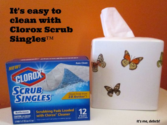It's easy to clean with Clorox Scrub Singles- It's me, debcb!