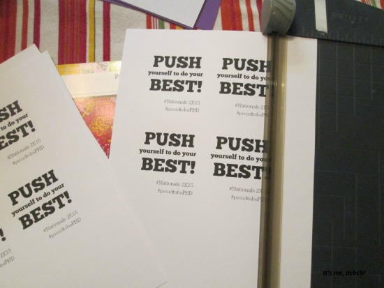 Push yourself to do your best print outs