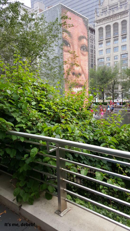 Crown Fountain in Millenium Park Chicago