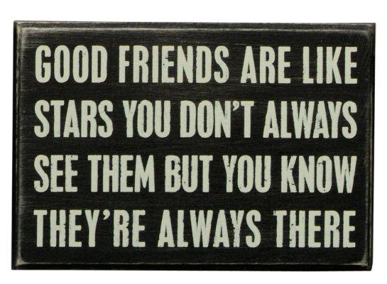 Good Friends Box Sign