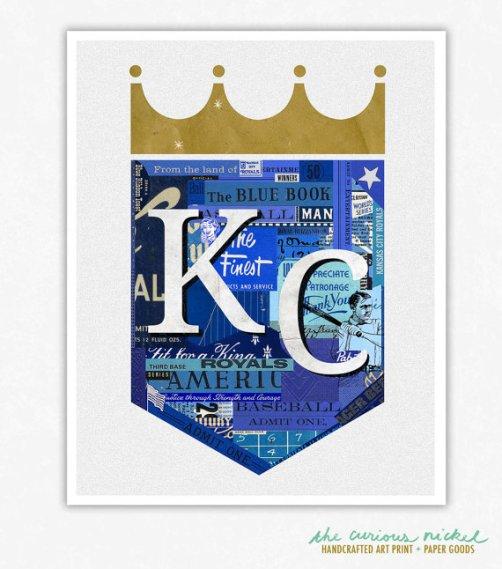 Kansas City Royals Print Collage