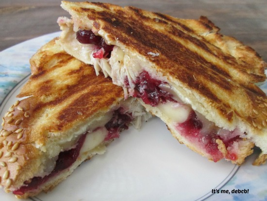 Turkey, Brie and Cranberry Panini - It's me, debcb!